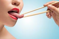 The tasty tongue. Royalty Free Stock Photography