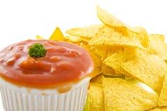 Tasty tortilla chips Stock Image