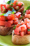Tasty traditional bruschetta Royalty Free Stock Photography