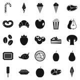 Tasty treats icons set, simple style Royalty Free Stock Image