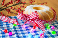 Tasty turban cake for christmas Stock Images