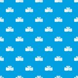 Tasty Turkish delight pattern seamless blue Royalty Free Stock Photography