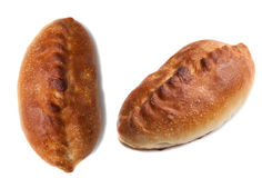 Tasty two fish pies.  on white Stock Image