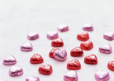 Tasty valentine sweets Royalty Free Stock Photos