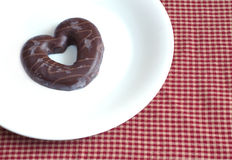 Tasty Valentines Day. Chocolate covered biscuits Royalty Free Stock Photography