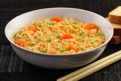 Tasty veg noodle soup Stock Photography