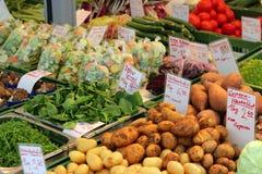 Tasty veg at veg stall. Big choice of tasty veg at veg stall Royalty Free Stock Photo