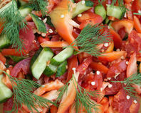Tasty vegetable salad closeup Royalty Free Stock Image