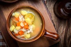 Tasty vegetable soup. Stock Image