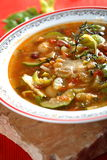 Tasty vegetables soup Stock Photo