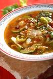 Tasty vegetables soup Stock Photo
