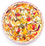 Tasty vegetarian quiche with eggplant Royalty Free Stock Photos