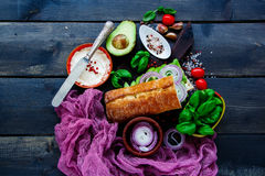 Tasty Vegetarian Sandwich Stock Images