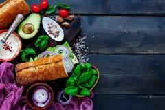 Tasty Vegetarian Sandwich Royalty Free Stock Photos
