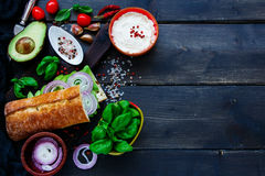 Tasty Vegetarian Sandwich Royalty Free Stock Images