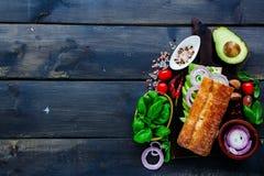 Tasty Vegetarian Sandwich Stock Photo