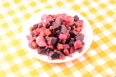 Tasty venegret on a white plate Royalty Free Stock Images