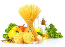 Tasty vermicelli, spaghetti Royalty Free Stock Images