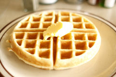 Tasty waffle Royalty Free Stock Photo