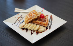 Tasty waffles Stock Photos