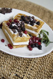 Tasty waffles Royalty Free Stock Images