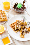 Tasty wafles Stock Photography