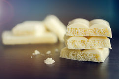Tasty white porous chocolate Stock Photography