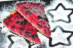 Berries pie slices Stock Image
