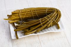 Tasty wild leek. Tasty tied up wild leek Stock Photography