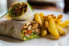 Tasty wraps Royalty Free Stock Photos