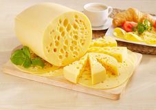 Tasty yellow cheese Royalty Free Stock Images