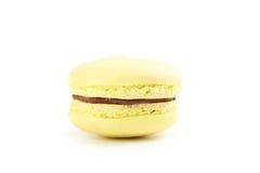Tasty yellow macaron Stock Photography