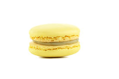 Tasty yellow macarons Stock Images