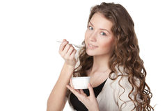 Tasty yogurt Royalty Free Stock Photo