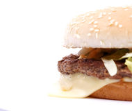 Tasty, yummy hamburger Royalty Free Stock Photos