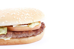 Tasty, yummy hamburger Stock Photography