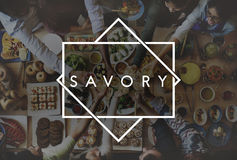 Tasty Yummy Savory Food Meal Concept Royalty Free Stock Image