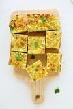 Tasty zucchini and cheese slice Stock Photo