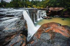 Tat吨瀑布,泰国 图库摄影