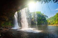 Tat Cham Pee Waterfall, Bolaven plateau Royalty Free Stock Image