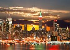 état de Manhattan d'empire de construction Images stock