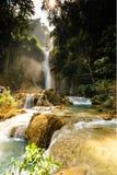 Tat Guangxi vattenfall, Luang Prabang, Laos. Fotografering för Bildbyråer