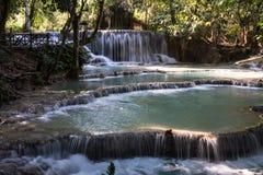 Tat Kuang Si siklawy blisko Luang Prabang, Laos zdjęcie stock