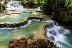 Tat Kuang Si Waterfall Laos Stock Photo