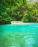 Tat Kuang Si Waterfalls. Beautiful landscape. Laos. Royalty Free Stock Photo
