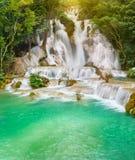 Tat Kuang Si Waterfalls. Beautiful landscape. Laos. Stock Photography