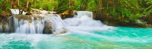 Tat Kuang Si Waterfalls. Beautiful panorama landscape. Laos. Royalty Free Stock Photo