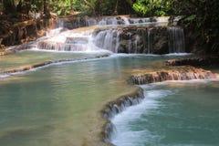 Tat Kuang Si Waterfalls is a three tier waterfall of Luang Prabang ,Laos Stock Image