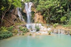 Tat Kuang Si Waterfalls is a three tier waterfall of Luang Prabang ,Laos Royalty Free Stock Image