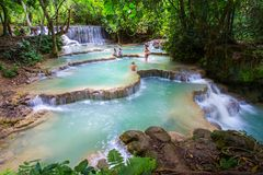 Tat Kuang Si Waterfalls stock photo
